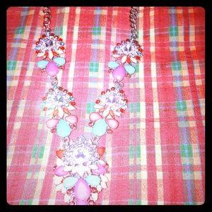 Necklace (multicolor broach style)